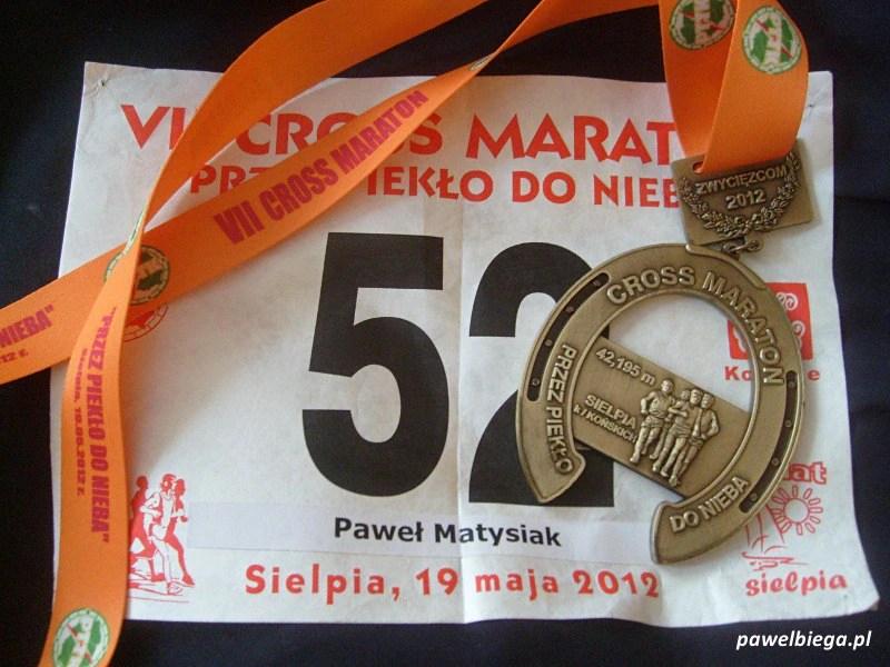 """VII Cross Maraton """"Przez Piekło do Nieba"""" - medal"""
