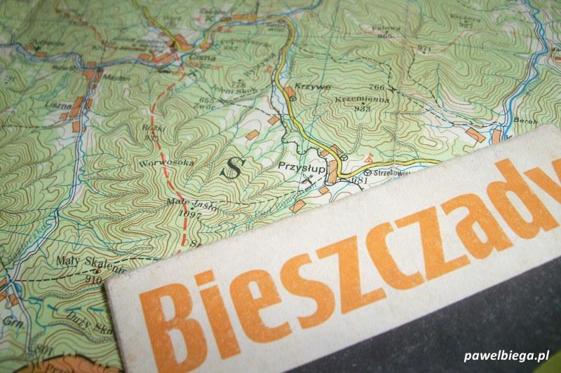 Mapa Bieszczad