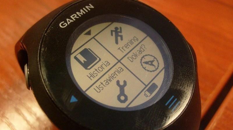 Garmin Forerunner 610 - menu