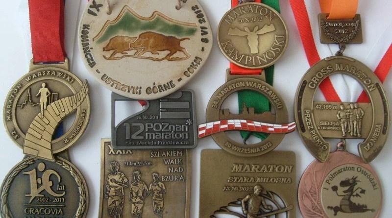 Medale biegowe 2010-2012