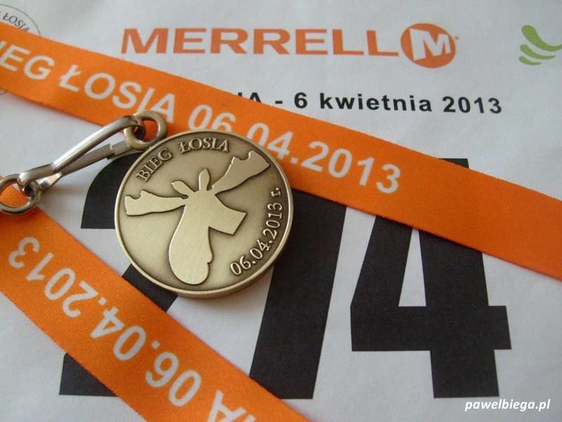 Bieg Łosia - medal