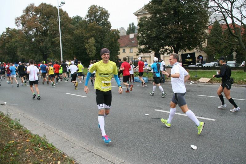 35. PZU Maraton Warszawski - na trasie