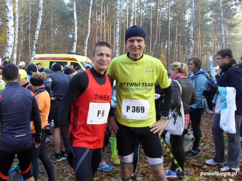 II Maraton Kampinoski - przed startem z Krasusem