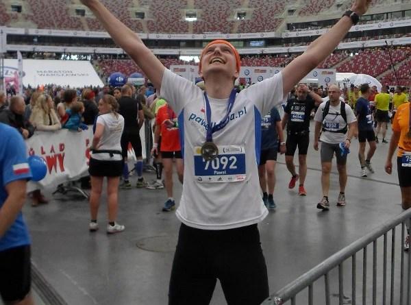 36 Maraton Warszawski - meta