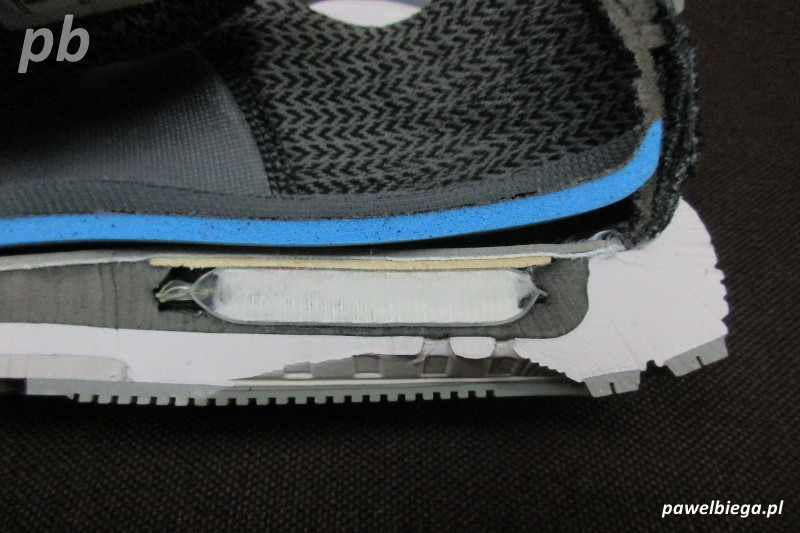 Nike Zoom Odyssey - przekrój pięta