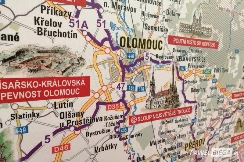 10 Olomouc Half Marathon - mapa