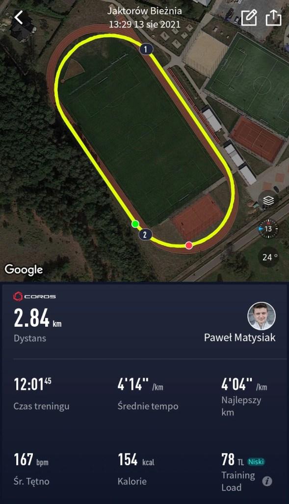 Coros Vertix - screenshot stadion