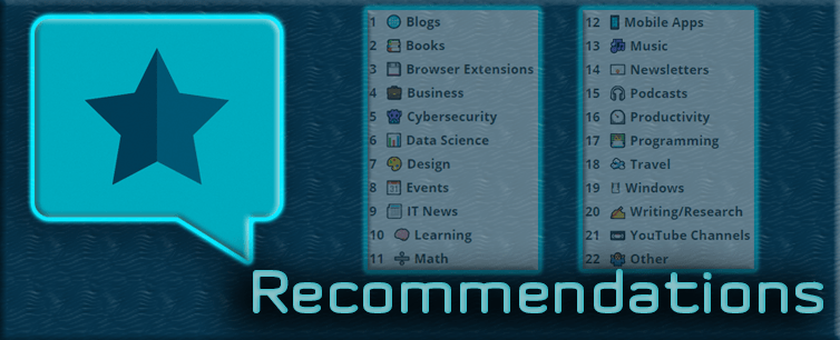 Recommendations - Blog post background