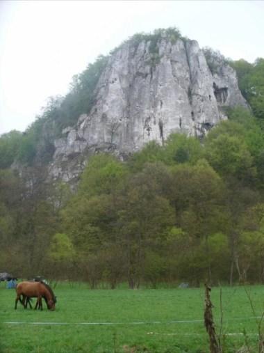skałka sokolica, dolina będkowska koło krakowa