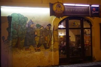 jedna z podróbek szwejkowych restauracji w pradze w czechach