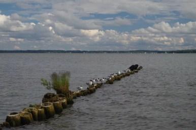 falochron nad jeziorem niegocin w giżycku na mazurach