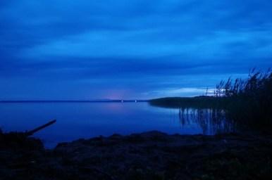 jezioro śniardwy w okolicy niedźwiedziego rogu na mazurach