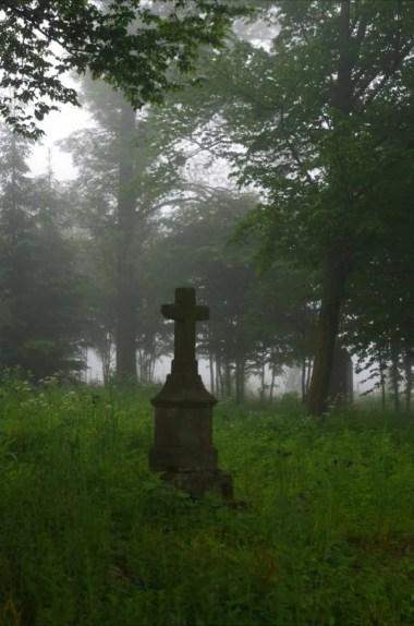 krzyż w pobliżu dawnej cerkwi w woli niżnej w beskidzie niskim na podkarpaciu
