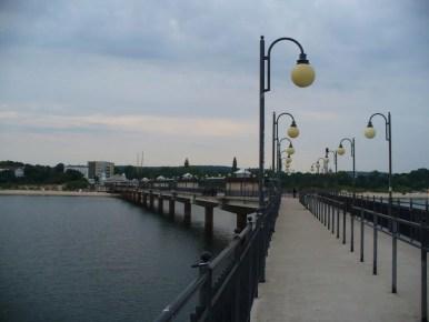 molo w międzyzdrojach nad morzem bałtyckim