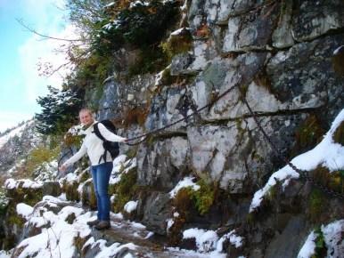 kotlina suchego potoku na perci akademików w babiogórskim parku narodowym