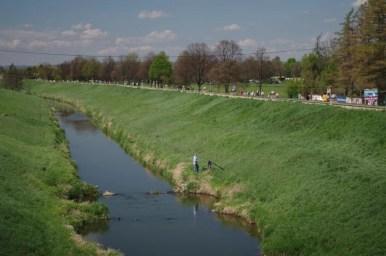 rzeka rudawa niedaleko ujścia do wisły na krakowskim salwatorze