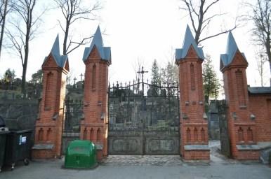 cmentarz na rossie w wilnie na litwie, główna brama wejściowa
