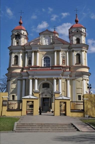kościół świętych piotra i pawła na antokole w wilnie na litwie