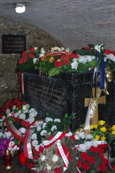krypta żółkiewskich i sarkofag ze szczątkami hetmana żółkiewskiego w żółkwi na roztoczu