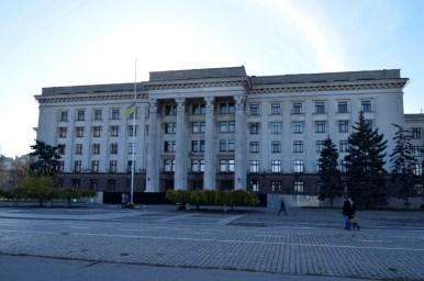 dom związków zawodowych na kulikowym polu w odessie na ukrainie
