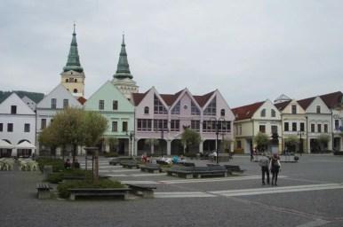 marianskie namestie w zilinie w słowacji