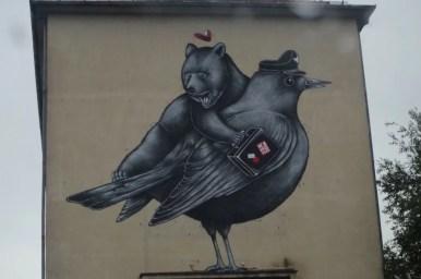 mural w ljubljanie w słowenii