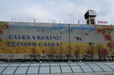 plac niepodległości w kijowie na ukrainie