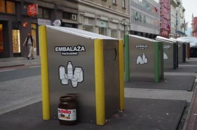 kosze na śmieci w ljubljanie w słowenii