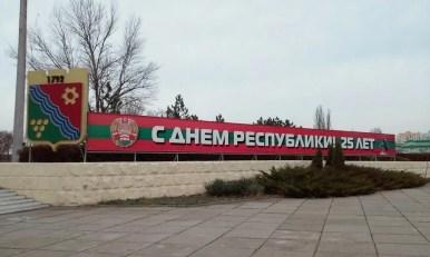 jedno z haseł reklamowych w tyraspolu w naddniestrzu