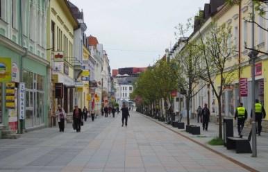 ulica narodna w zilinie w słowacji