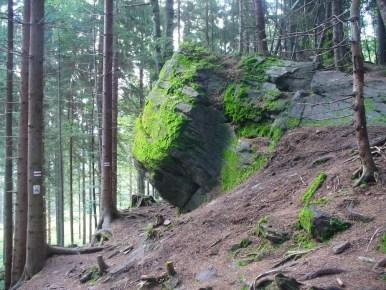 dorkowa skała w beskidzie śląskim
