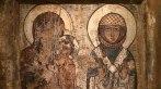 Tronująca Matka Boska i św. Barbara, ikona z kolekcji muzealnej w Mestii, fot. Paweł Wroński