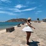 Pauline dancing in Naxos