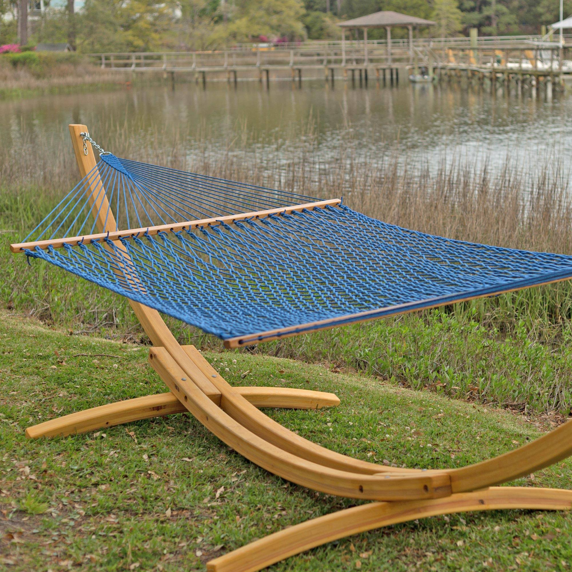 Coastal Blue Presidential Original Duracord Rope Hammock