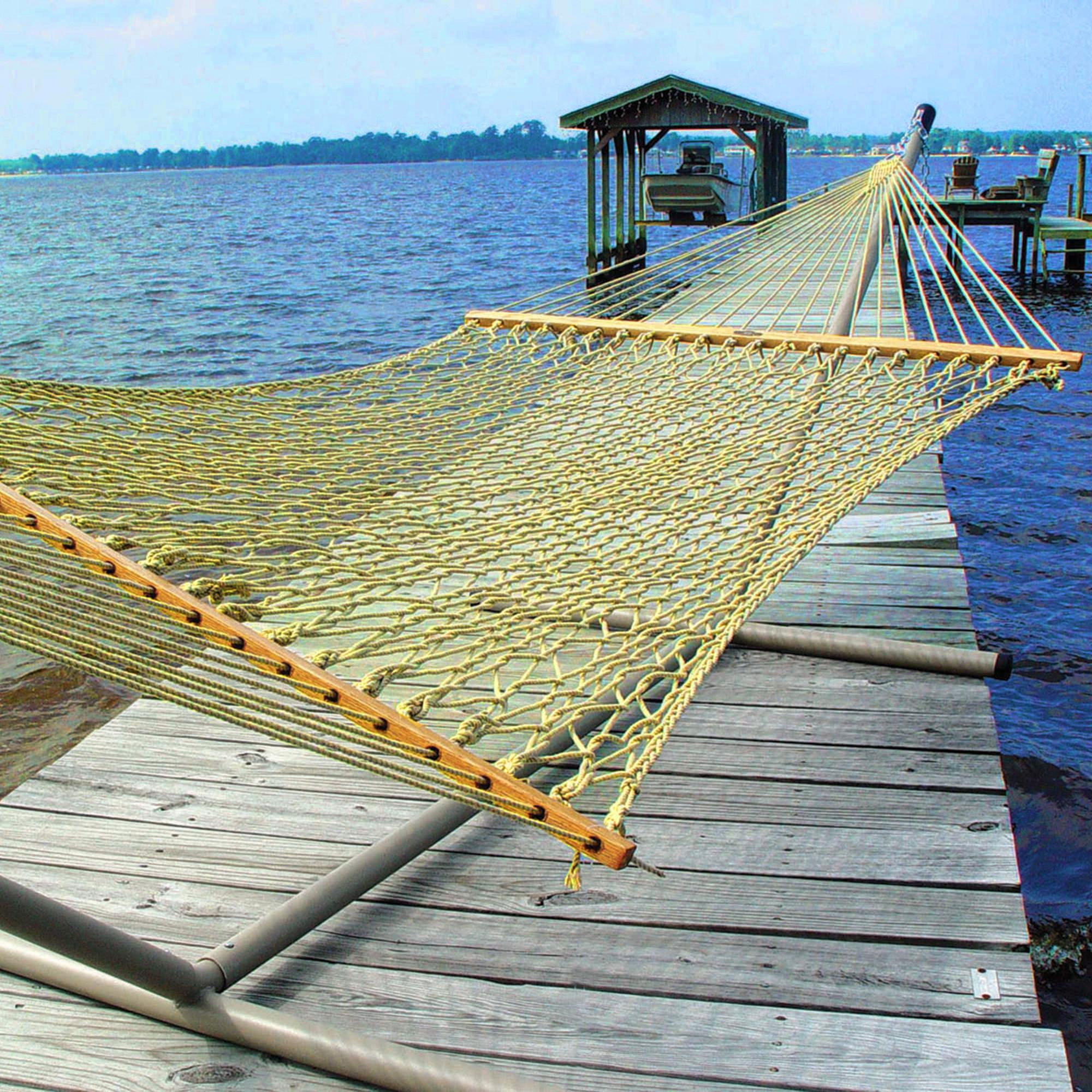 Large Tan Original Duracord Rope Hammock