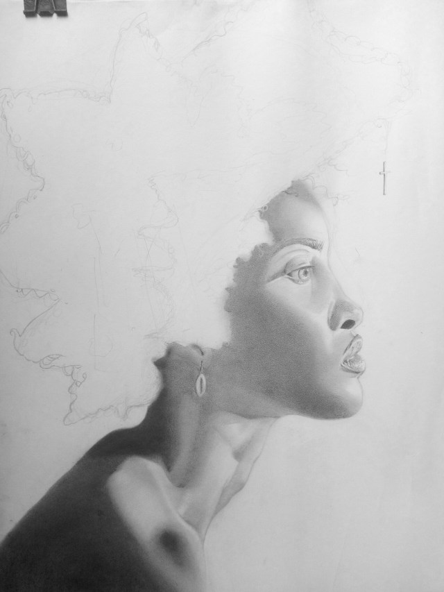 Shading with charcoal