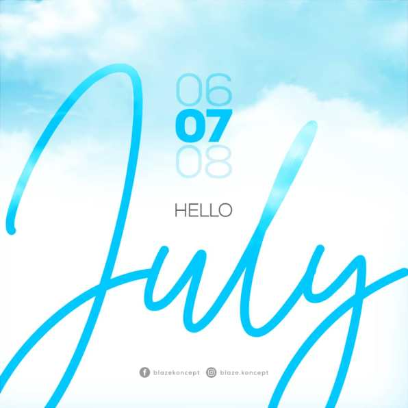 Hello July. Graphic Design of the month