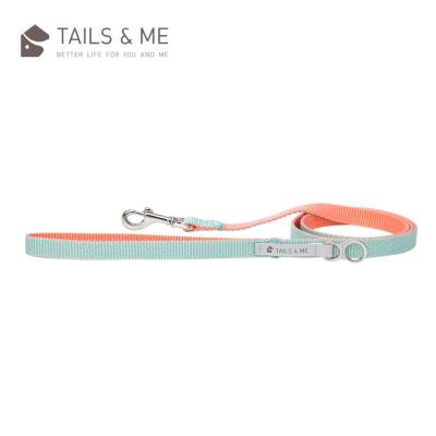 Tails and me Classic Nylon 經典尼龍系列|牽繩|粉橘薄荷