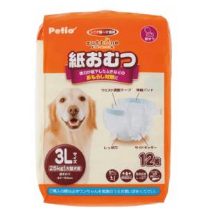 Petio zuttone 高齡犬護理專用包圍式紙尿片 3L (12片)
