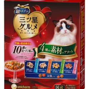 Unicharm 三星銀匙美味零食餅10歲 (腎臟健康) 240g