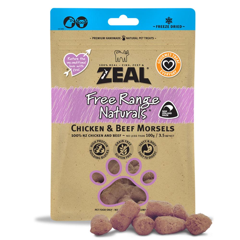 Zeal – Chicken & Lamb Morsels 冷凍脫水雞、羊小食100g