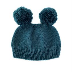 Teal Bear Hat