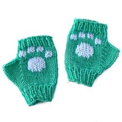 Mint Paw Gloves