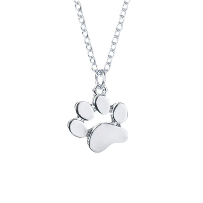 paw-print silver necklace