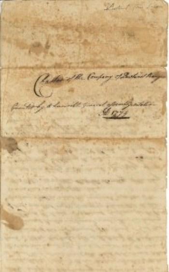 Pawtuxet Rangers 1774 Charter