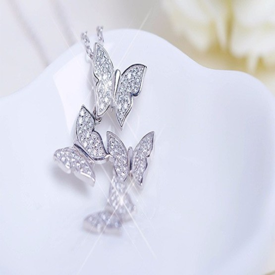 Butterfly Zircon Necklace 2