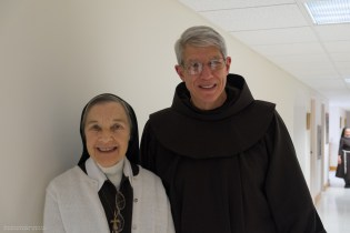 Fr. Ron and Sister Miriam, Abbess of the Poor Clare Monastery in Chesterfield, NJ