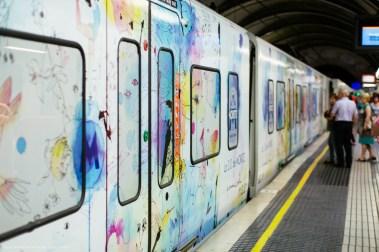 The metro in Barcelona
