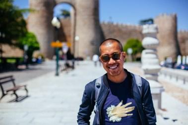 Me at the gates of Ávila