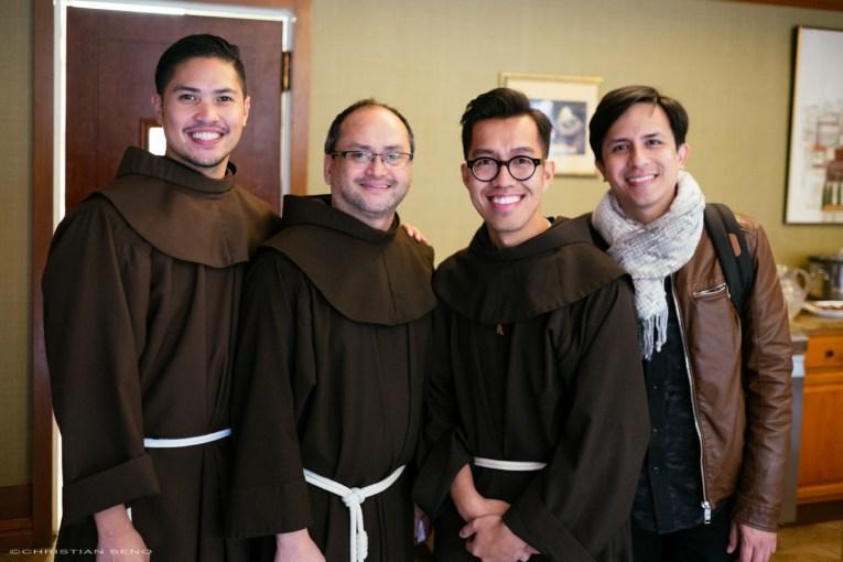 Br. Ramon, Fr. Julian, me, and Greg